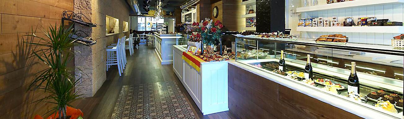 Dise o y decoracion de pastelerias empresa pastpan - Decoracion cafeterias modernas ...