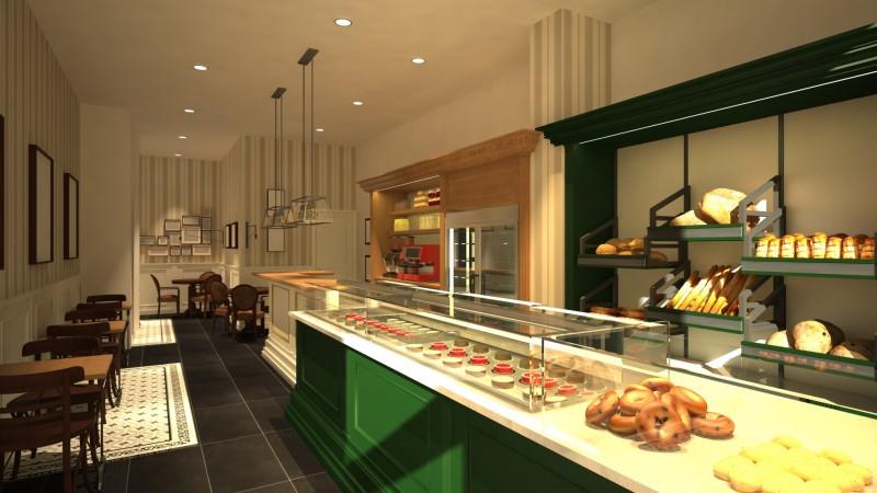 Dise o 3d de pastelerias panaderias y restaurantes - Disenos para restaurantes ...